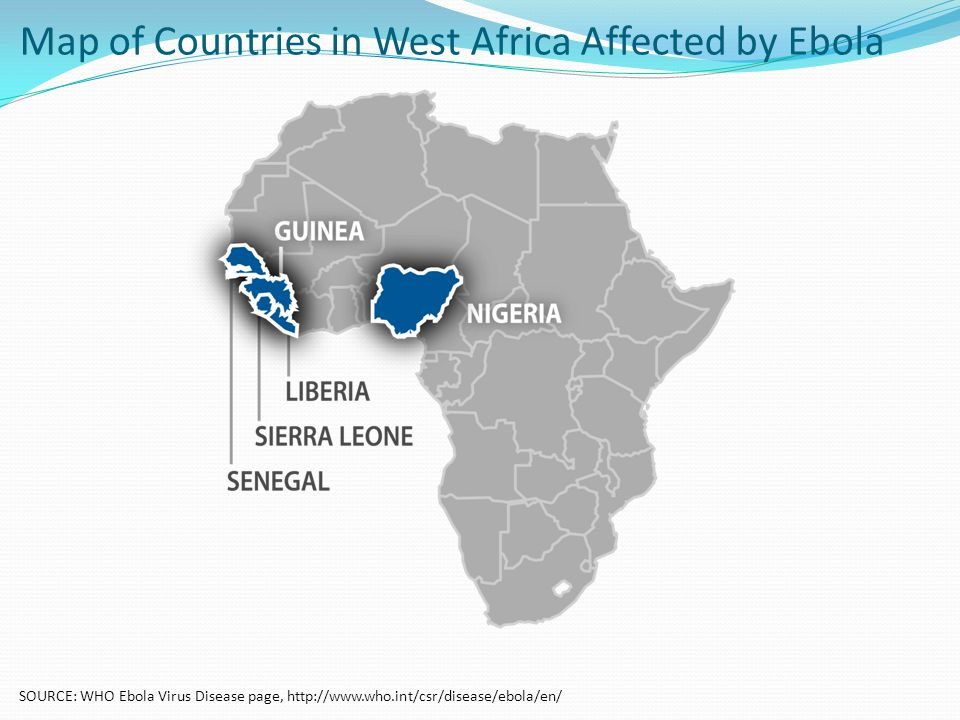 Map of Countries in West Africa Affected by Ebola