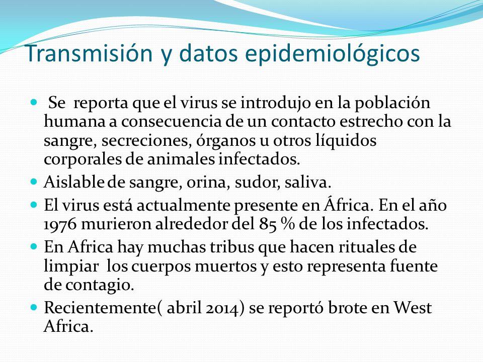Transmisión y datos epidemiológicos