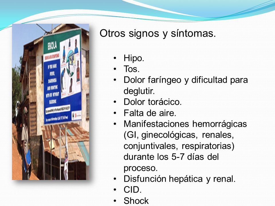 Otros signos y síntomas.