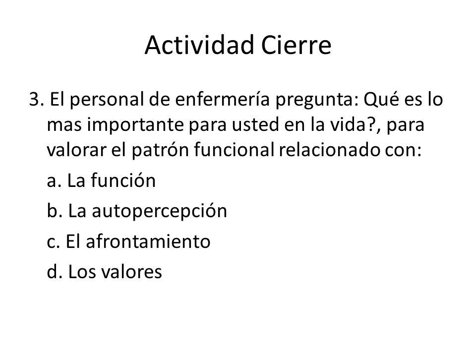 Actividad Cierre