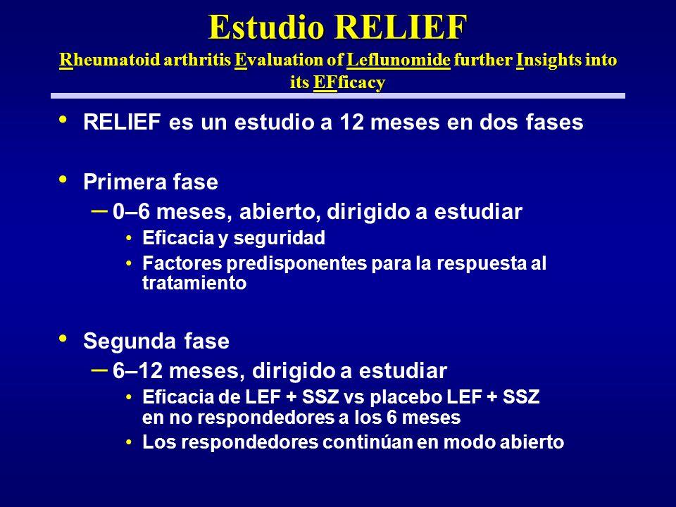 Estudio RELIEF Rheumatoid arthritis Evaluation of Leflunomide further Insights into its EFficacy