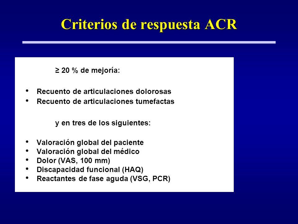 Criterios de respuesta ACR