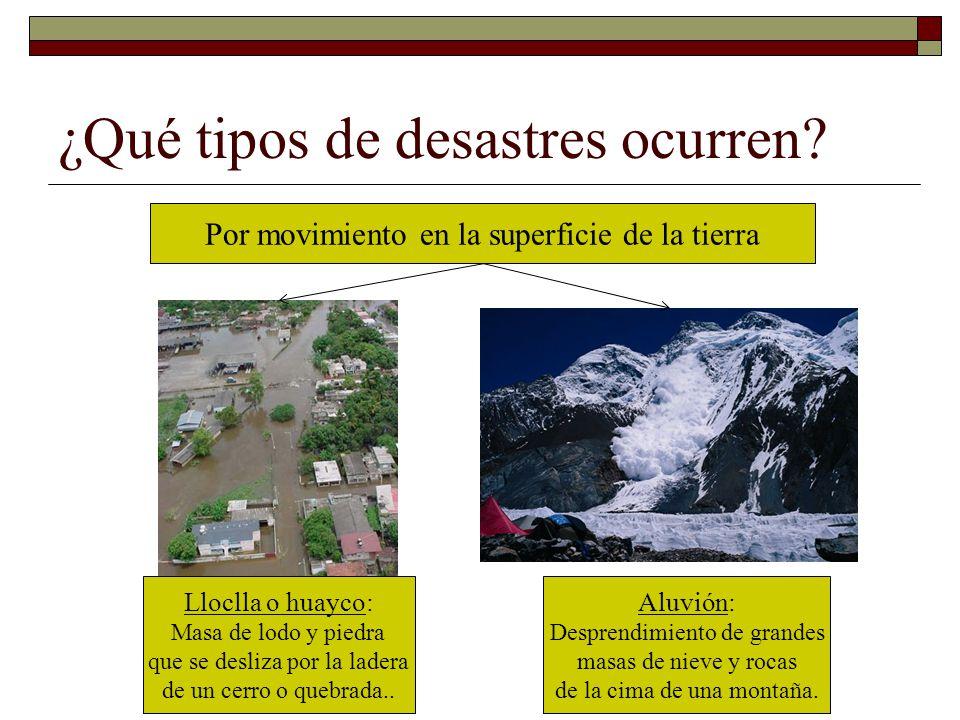 ¿Qué tipos de desastres ocurren