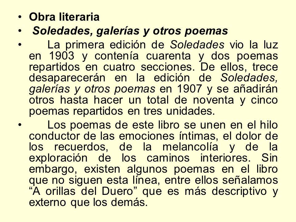 Obra literaria Soledades, galerías y otros poemas.