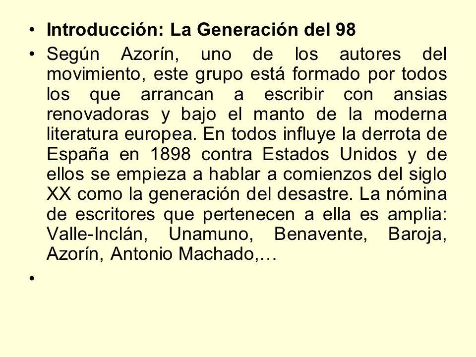 Introducción: La Generación del 98