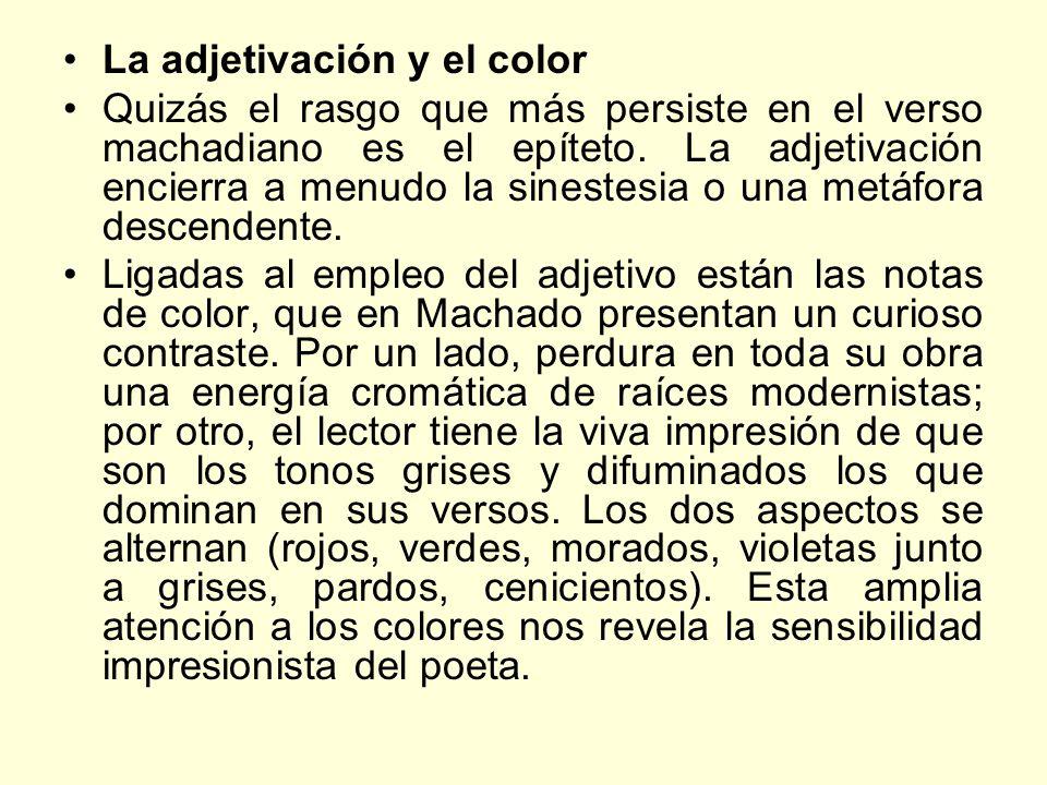 La adjetivación y el color