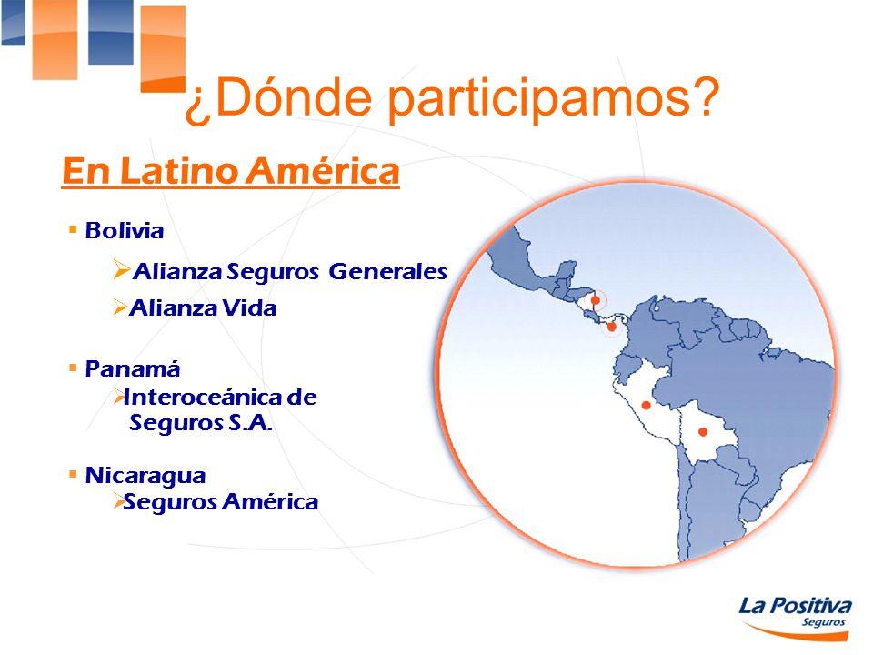 ¿Dónde participamos En Latino América Alianza Seguros Generales