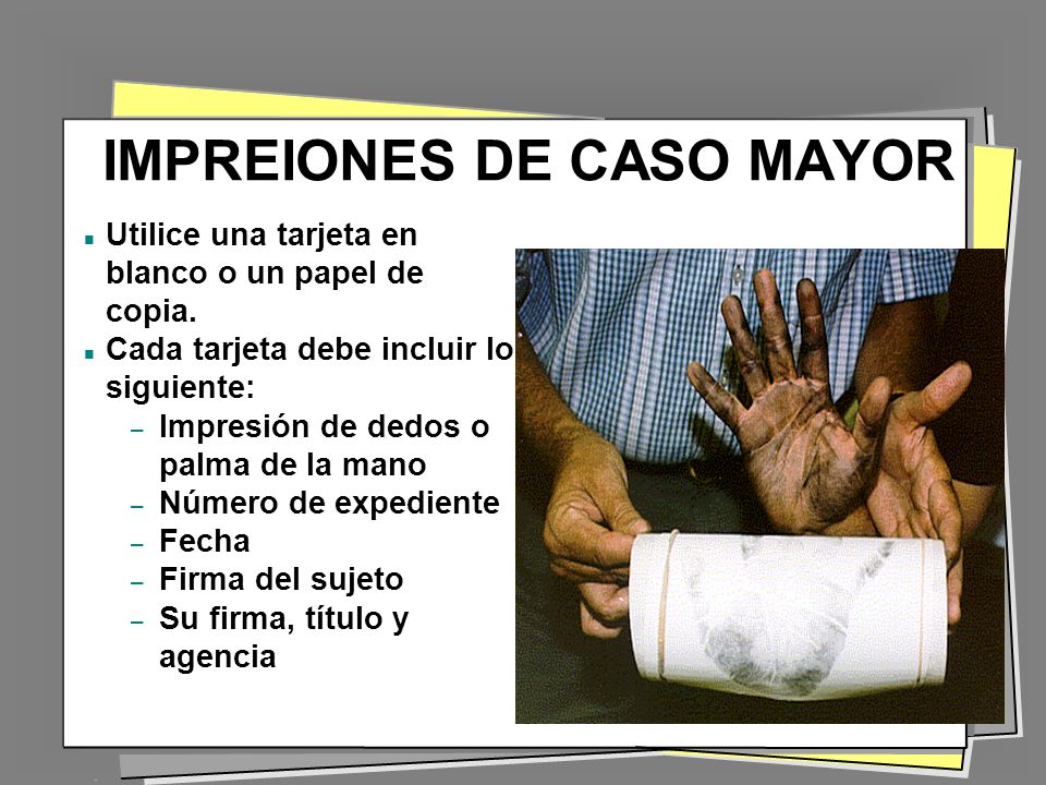 IMPREIONES DE CASO MAYOR