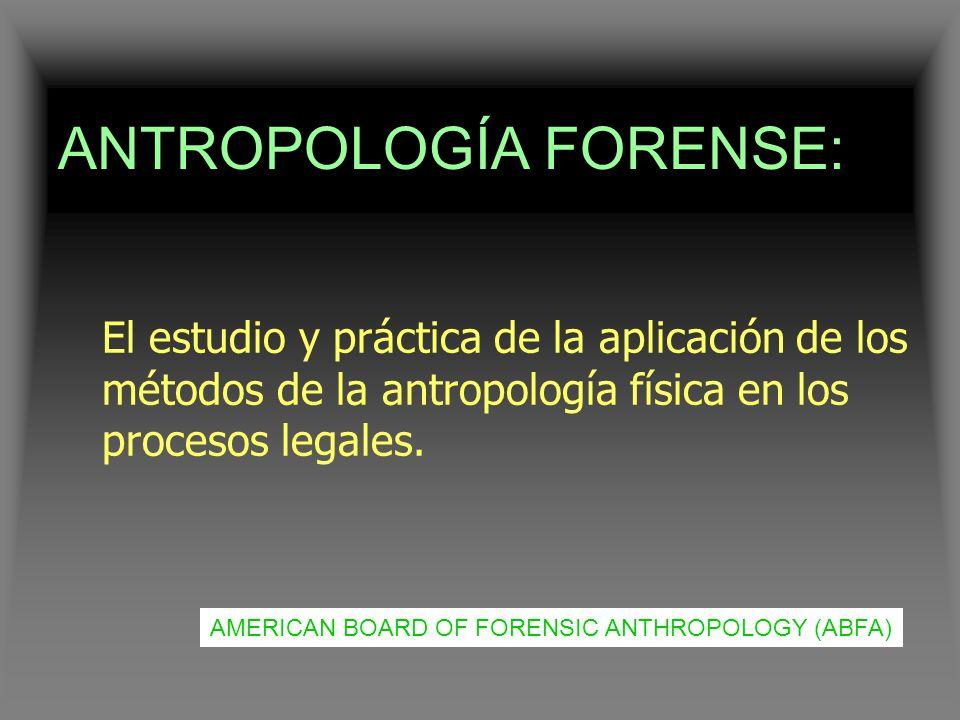 ANTROPOLOGÍA FORENSE: