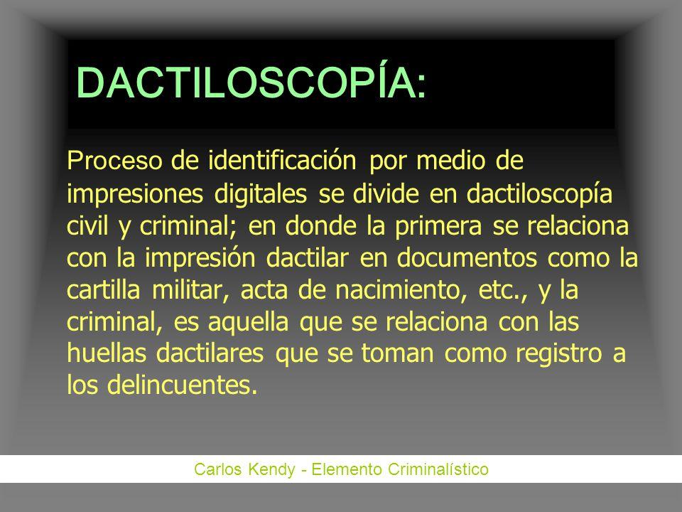 Carlos Kendy - Elemento Criminalístico