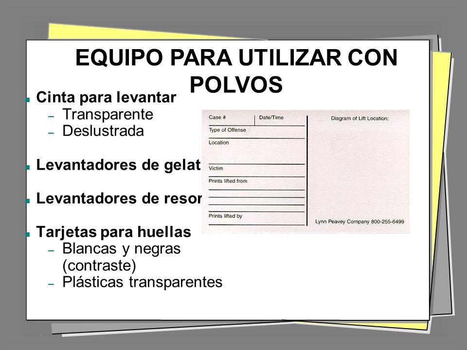 EQUIPO PARA UTILIZAR CON POLVOS