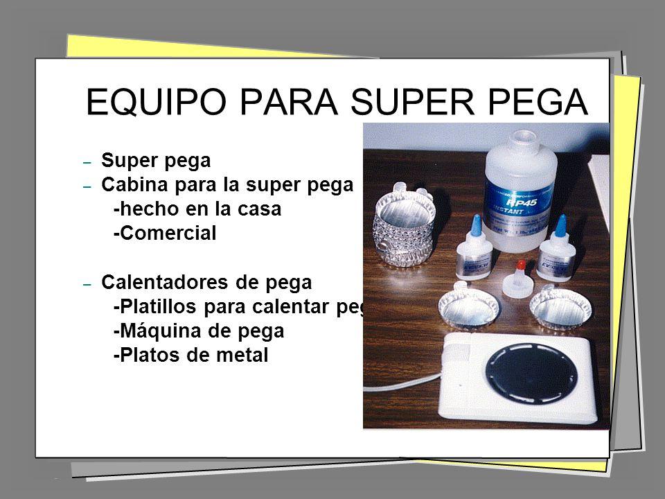 EQUIPO PARA SUPER PEGA Super pega Cabina para la super pega