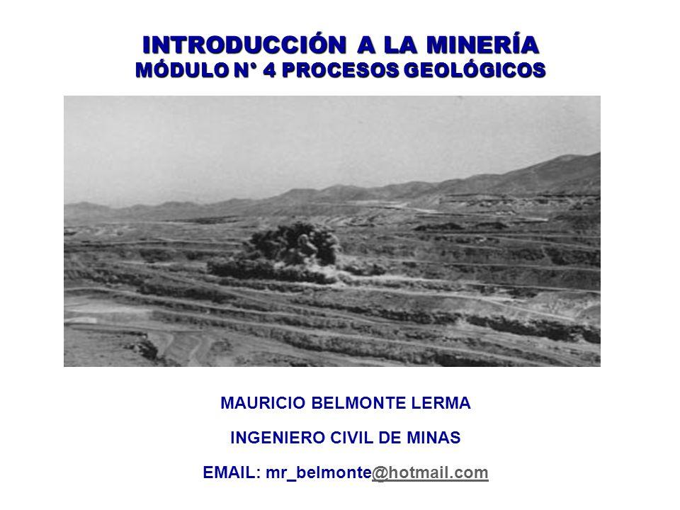 INTRODUCCIÓN A LA MINERÍA MÓDULO N° 4 PROCESOS GEOLÓGICOS