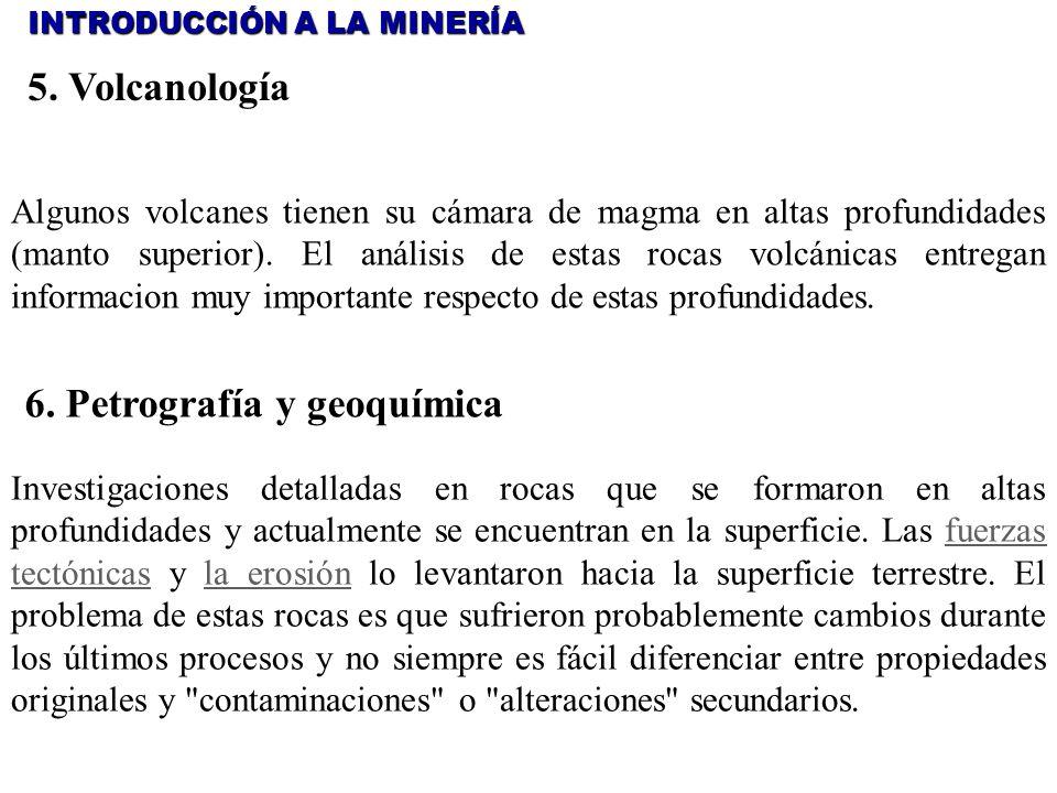6. Petrografía y geoquímica