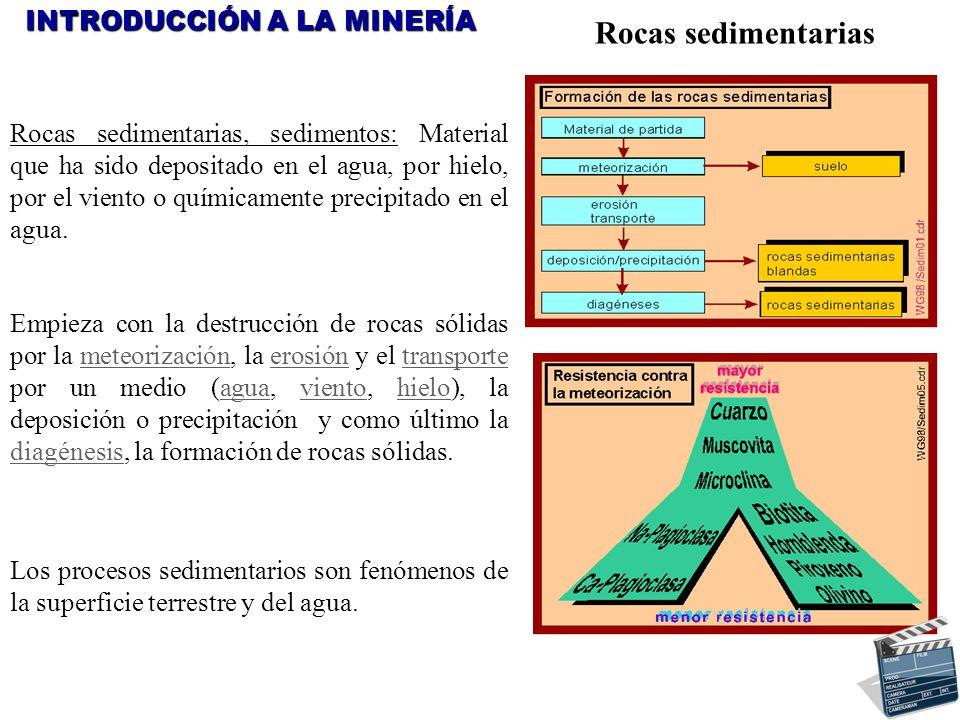 Rocas sedimentarias INTRODUCCIÓN A LA MINERÍA