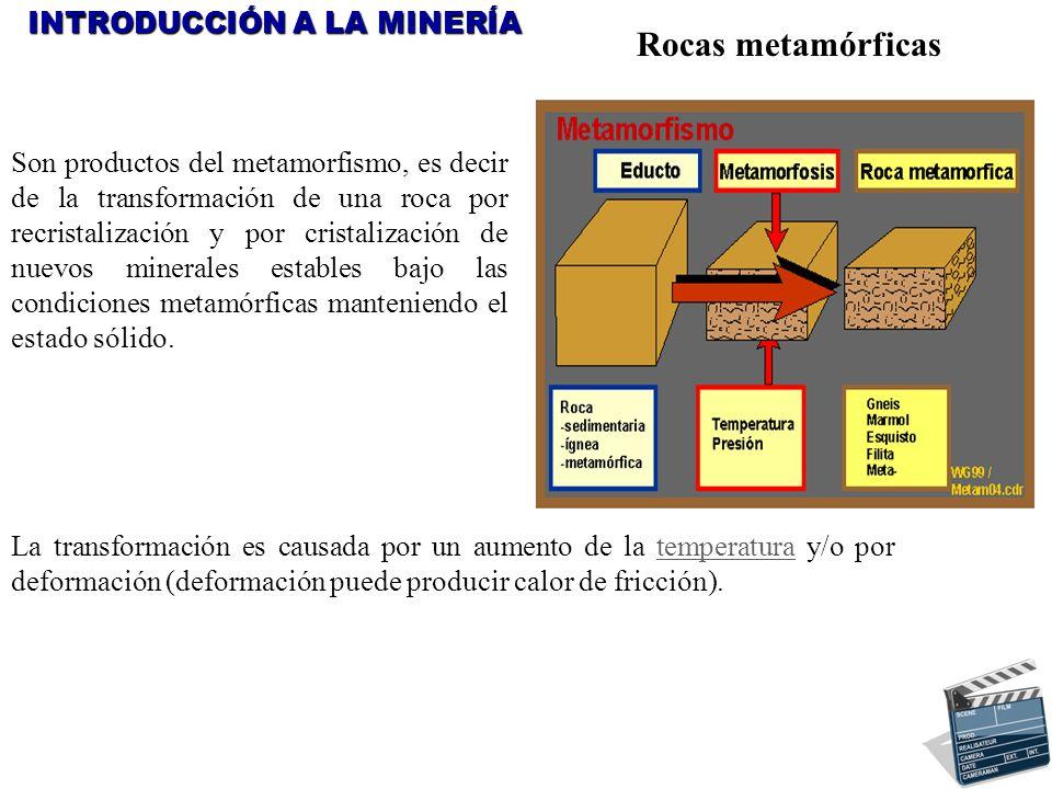 Rocas metamórficas INTRODUCCIÓN A LA MINERÍA