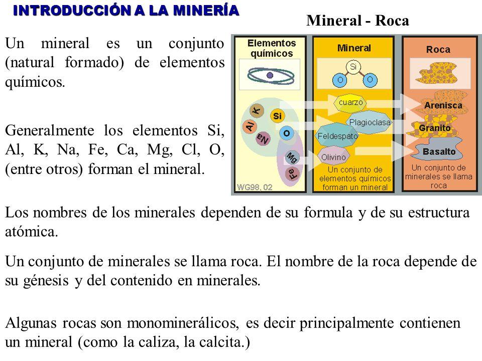 Un mineral es un conjunto (natural formado) de elementos químicos.