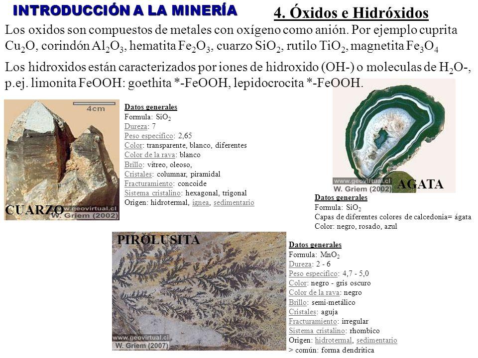 4. Óxidos e Hidróxidos INTRODUCCIÓN A LA MINERÍA