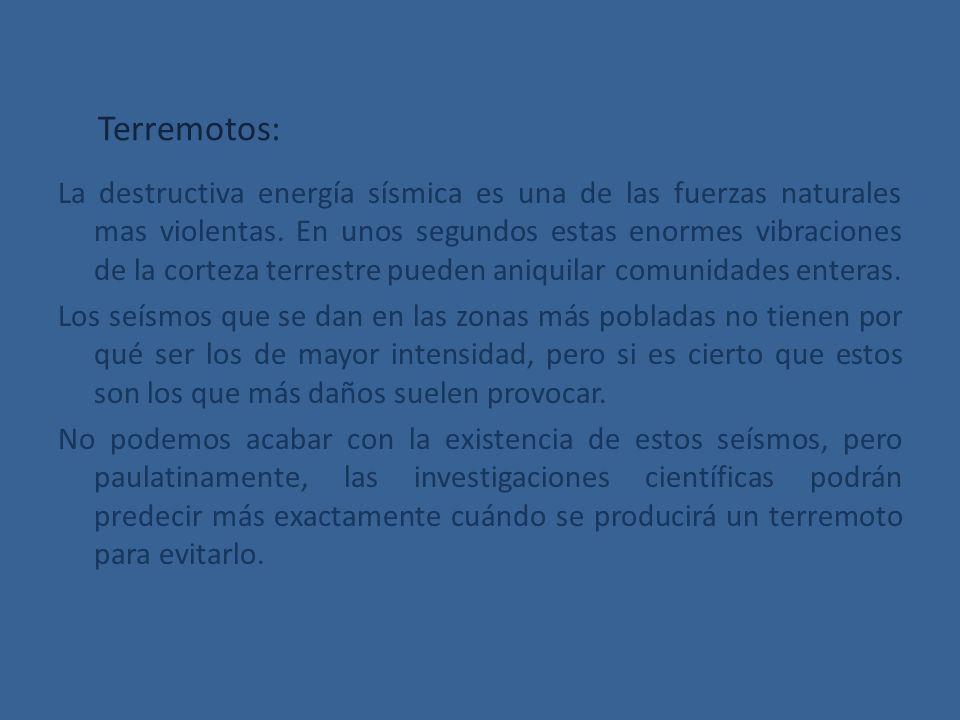 Terremotos: