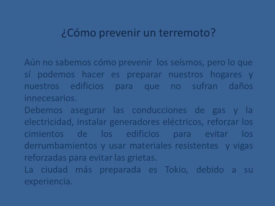 ¿Cómo prevenir un terremoto