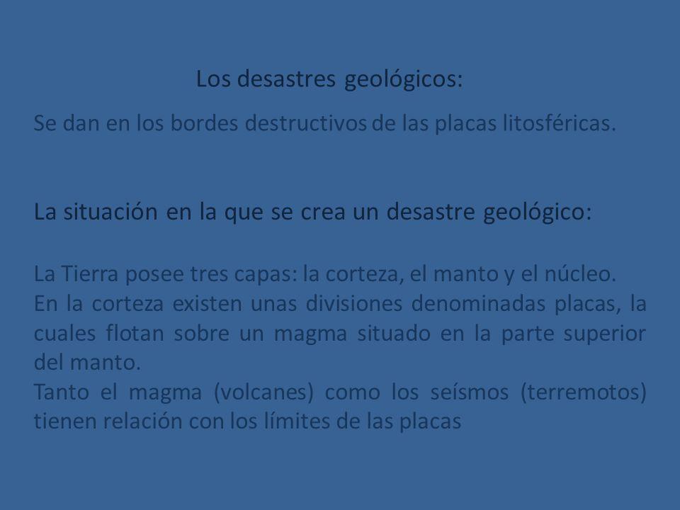 Los desastres geológicos: