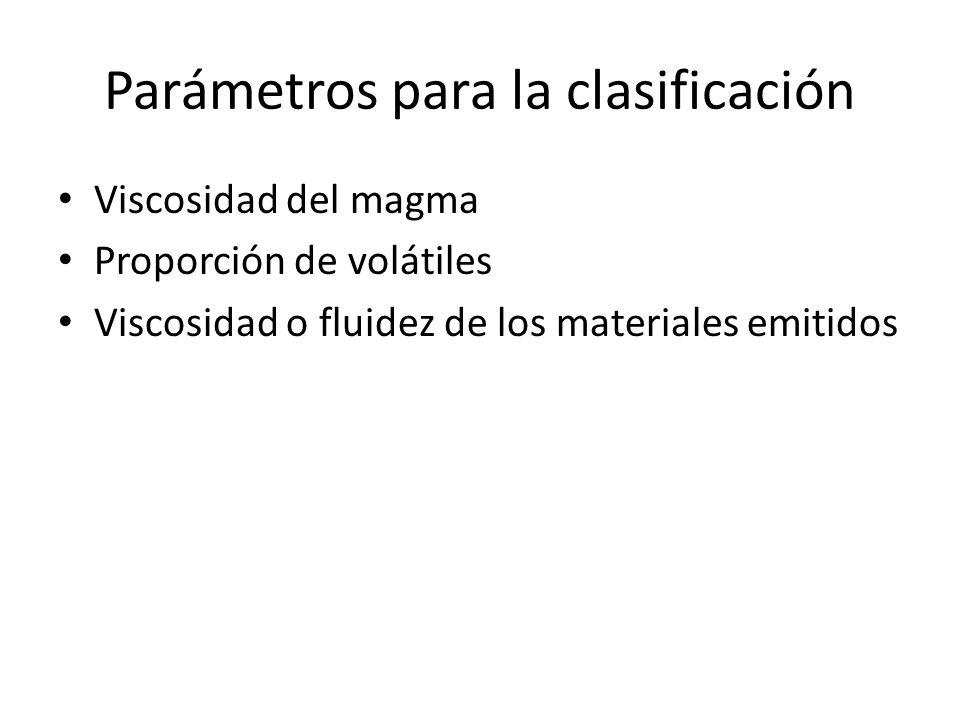 Parámetros para la clasificación
