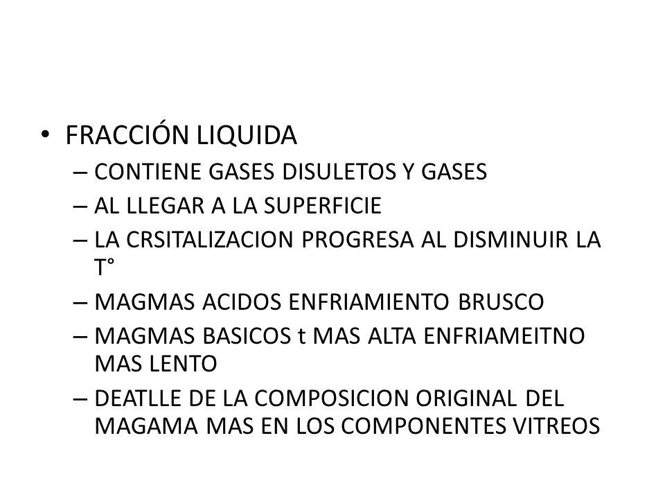 FRACCIÓN LIQUIDA CONTIENE GASES DISULETOS Y GASES