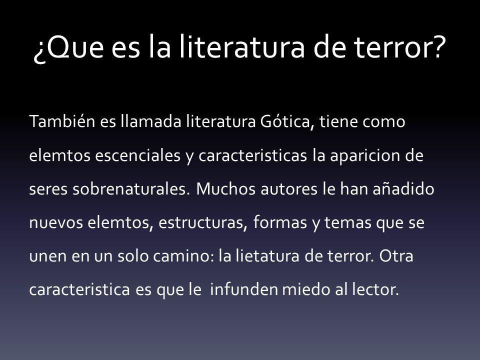 ¿Que es la literatura de terror