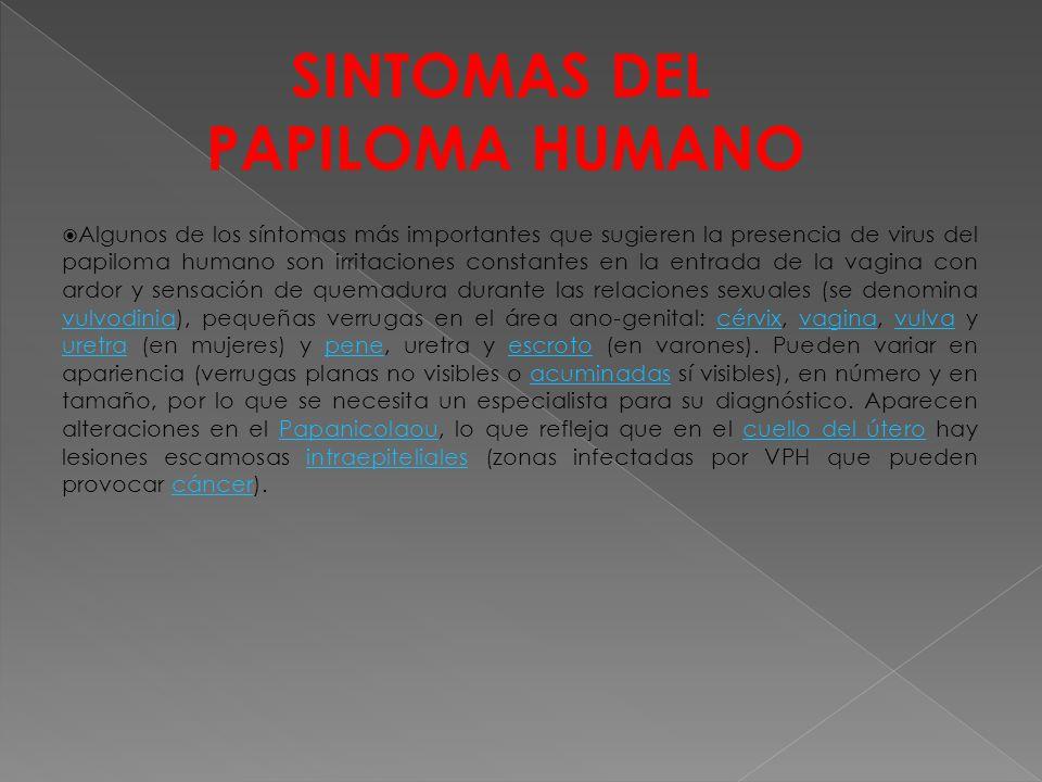 SINTOMAS DEL PAPILOMA HUMANO