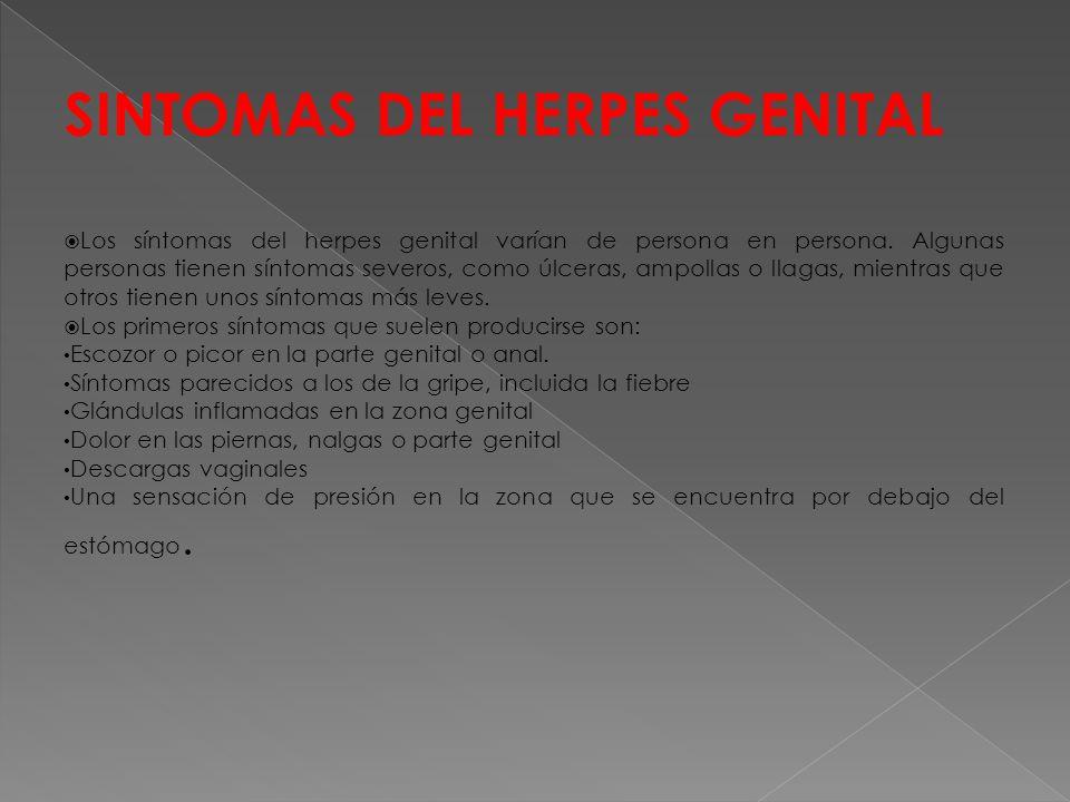 SINTOMAS DEL HERPES GENITAL