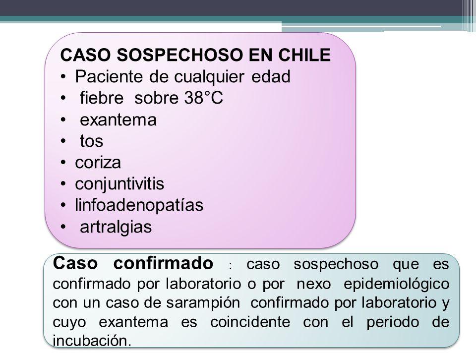CASO SOSPECHOSO EN CHILE