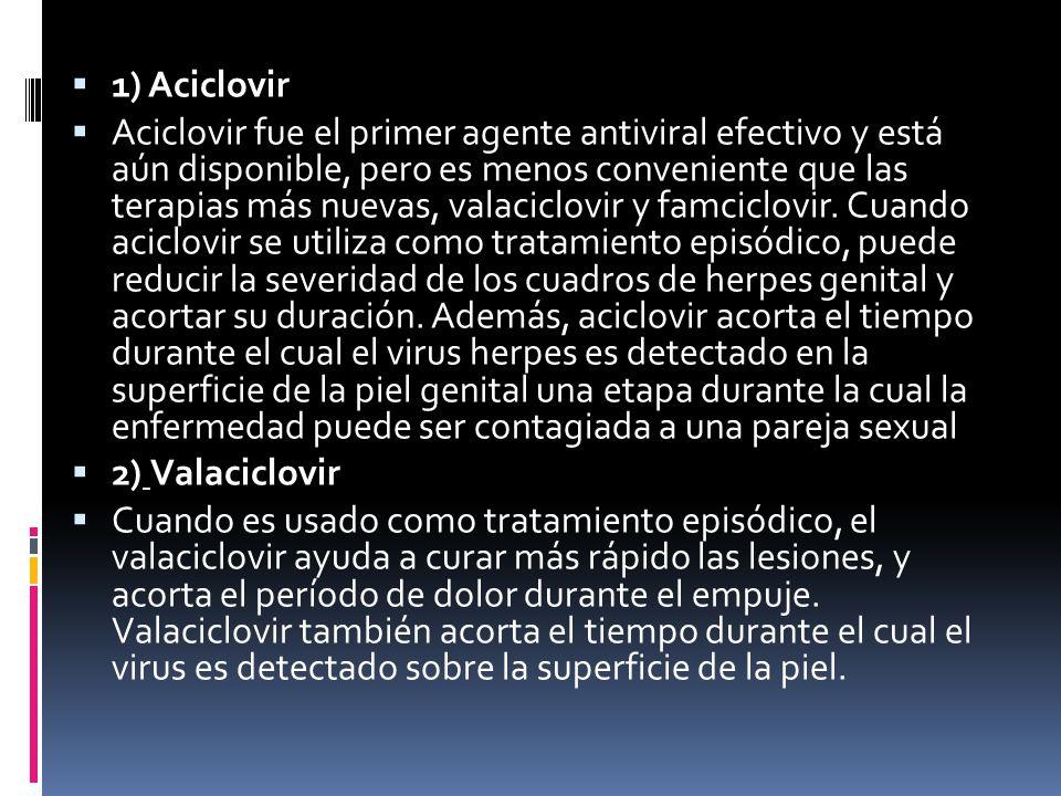 1) Aciclovir
