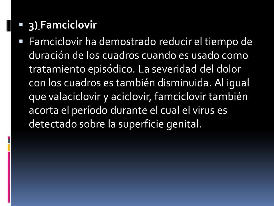 3) Famciclovir