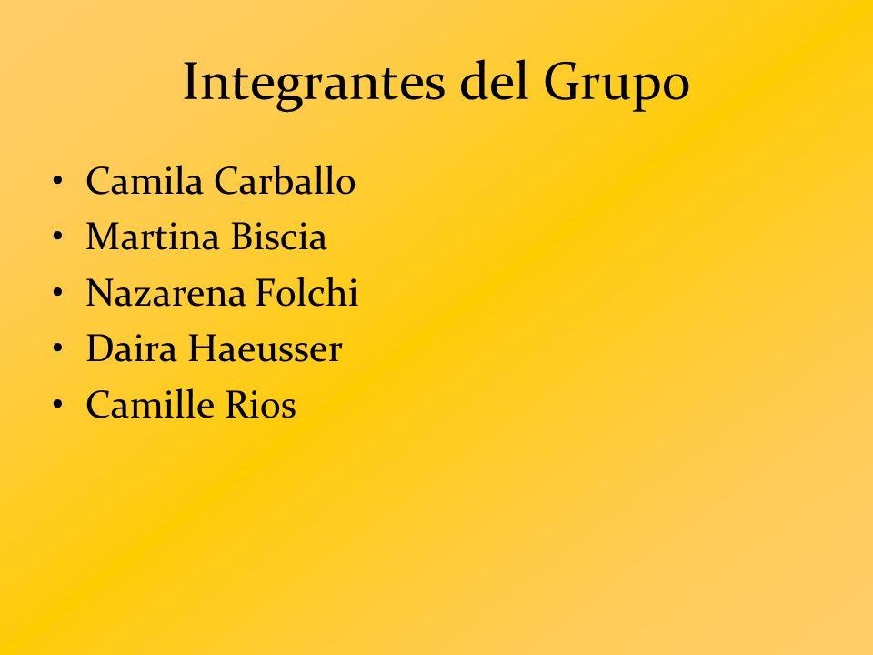 Integrantes del Grupo Camila Carballo Martina Biscia Nazarena Folchi