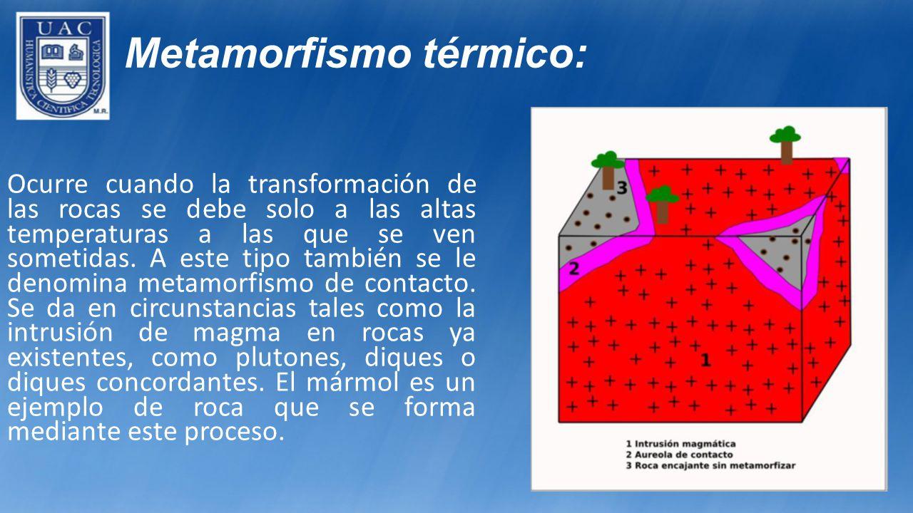 Metamorfismo térmico: