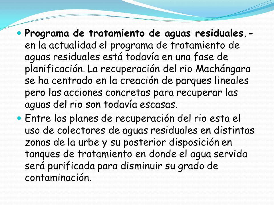 Programa de tratamiento de aguas residuales
