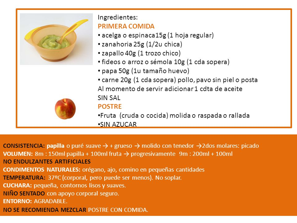 acelga o espinaca15g (1 hoja regular) zanahoria 25g (1/2u chica)