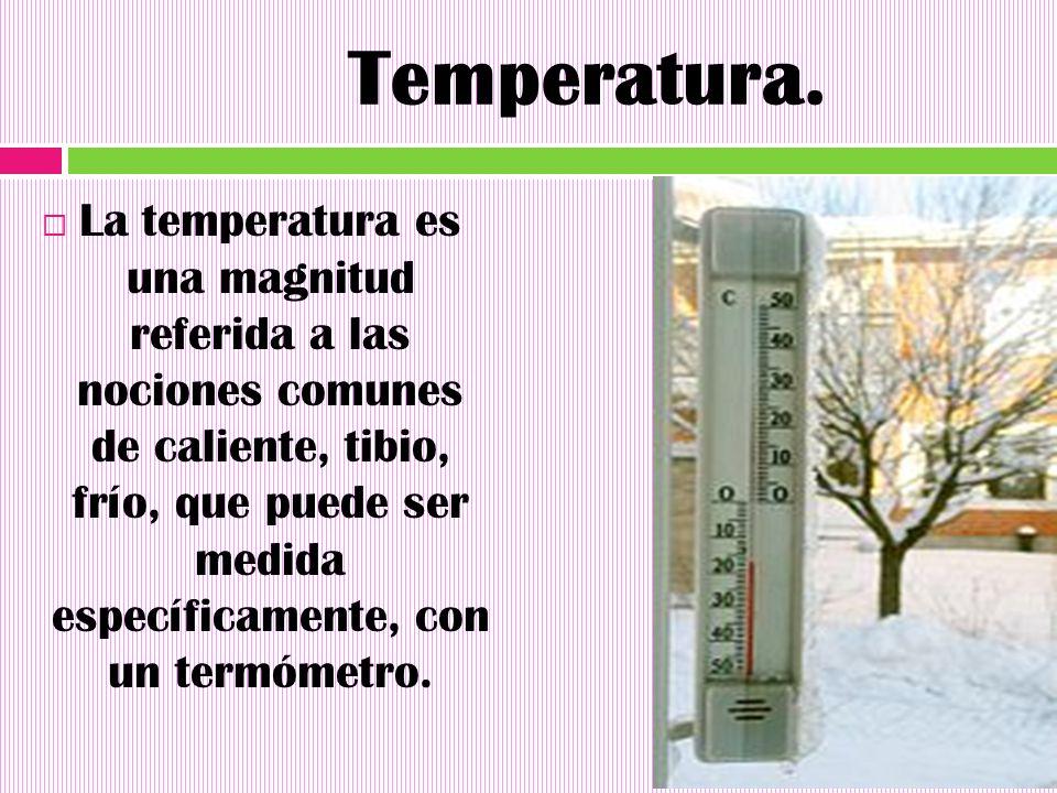 Temperatura.