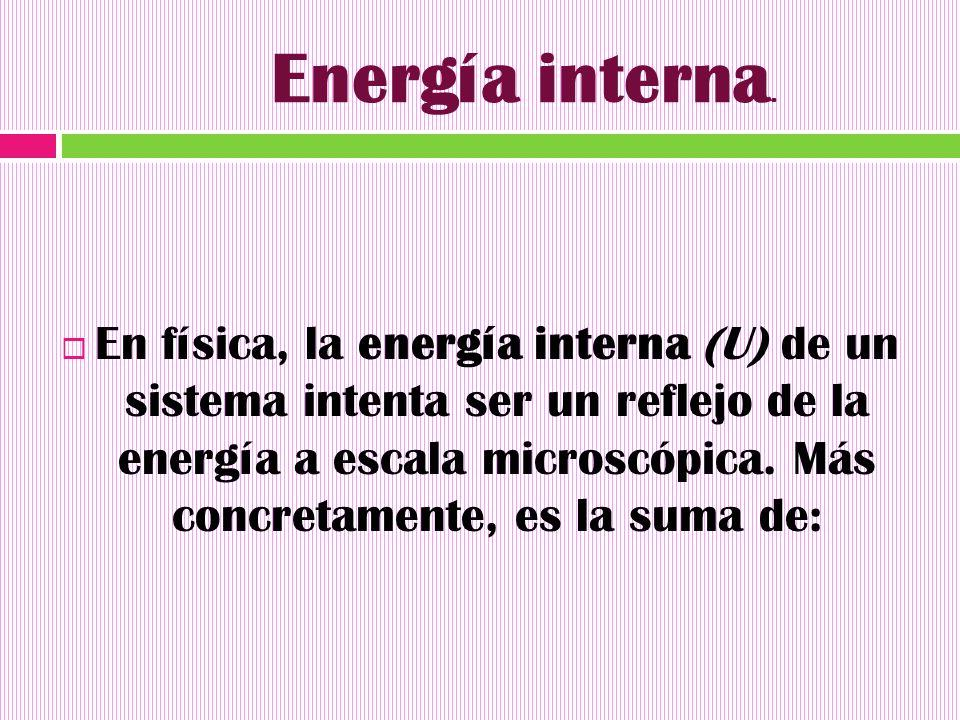 Energía interna.