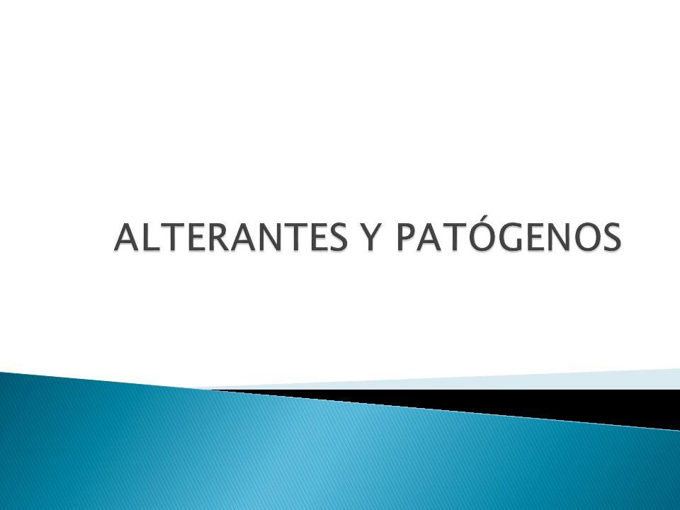 ALTERANTES Y PATÓGENOS