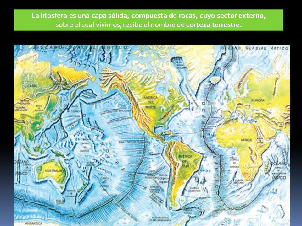 sobre el cual vivimos, recibe el nombre de corteza terrestre.