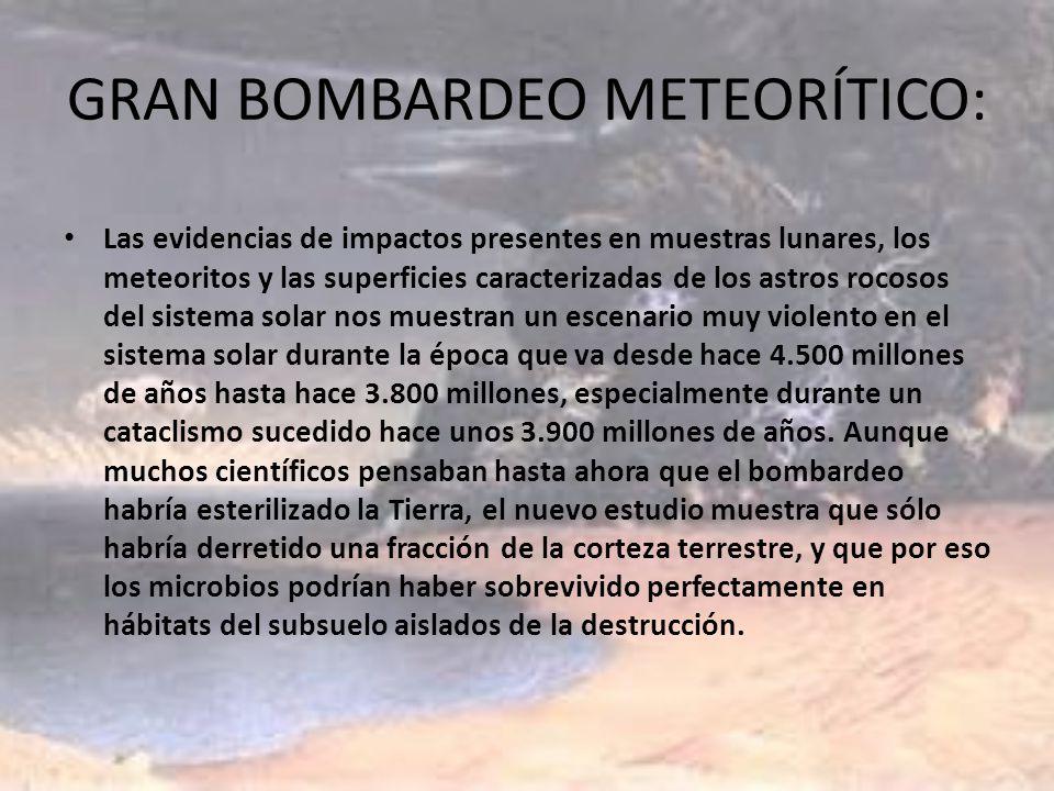 GRAN BOMBARDEO METEORÍTICO: