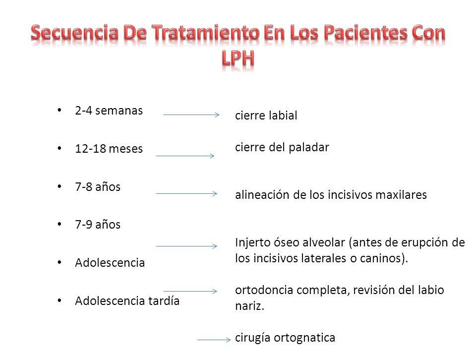 Secuencia De Tratamiento En Los Pacientes Con LPH