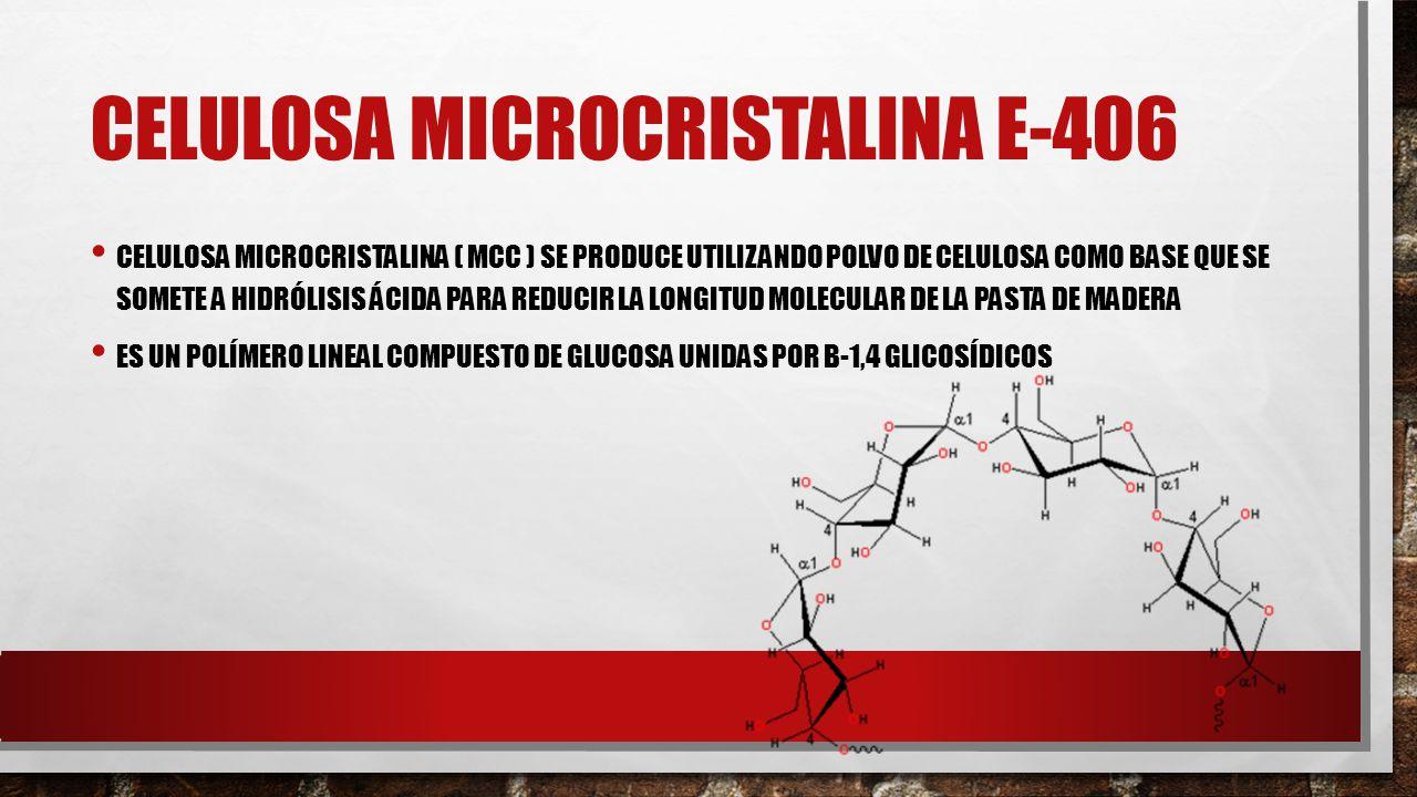 CELULOSA MICROCRISTALINA E-406