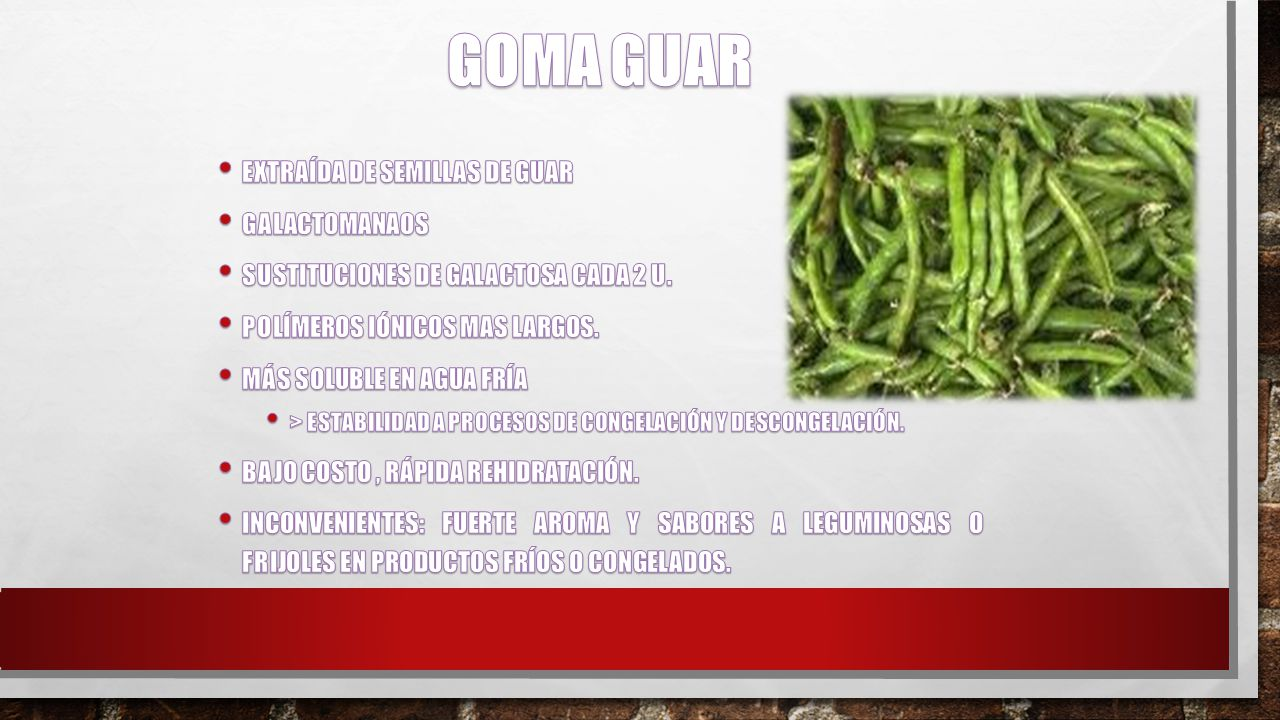 GOMA GUAR Extraída de semillas de Guar Galactomanaos