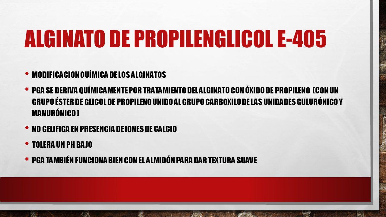 Alginato de Propilenglicol E-405