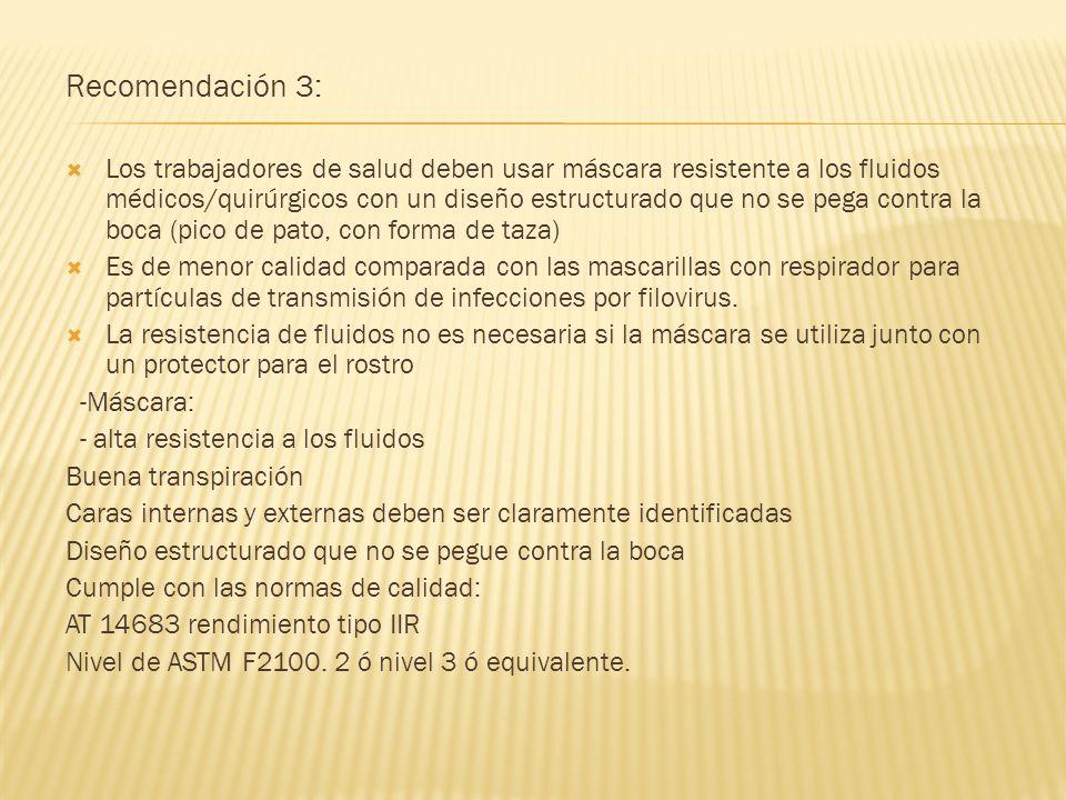 Recomendación 3: