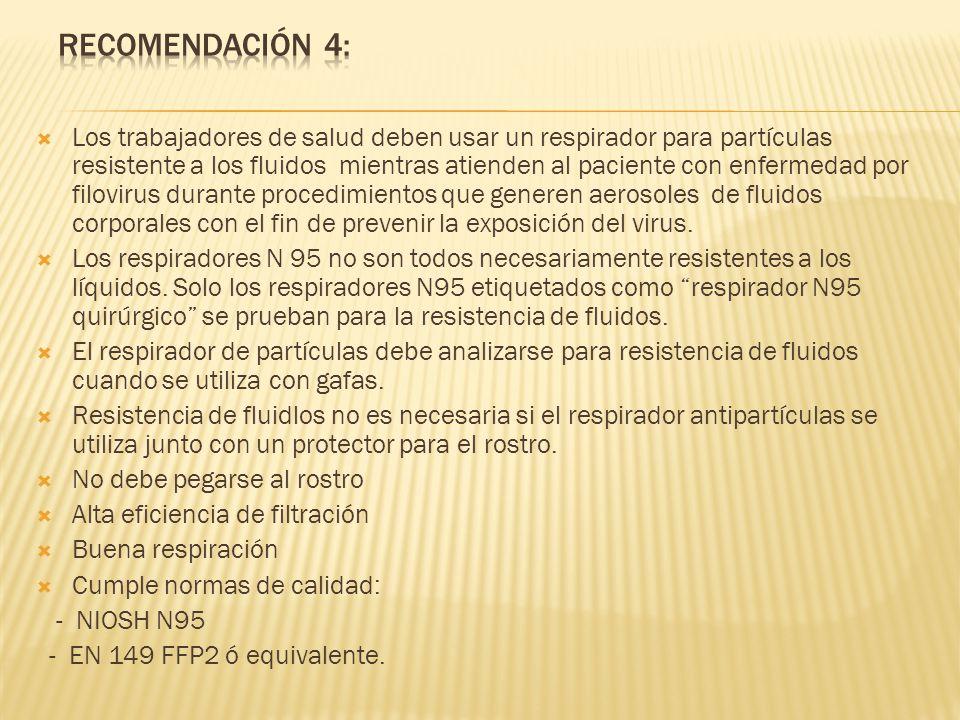 Recomendación 4:
