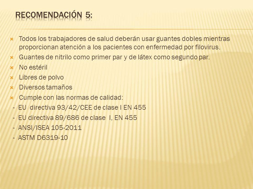 Recomendación 5: