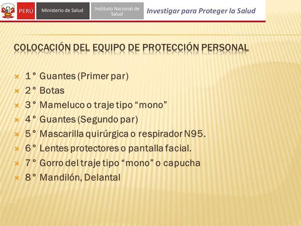 Colocación Del EQUIPO DE PROTECCIÓN PERSONAL